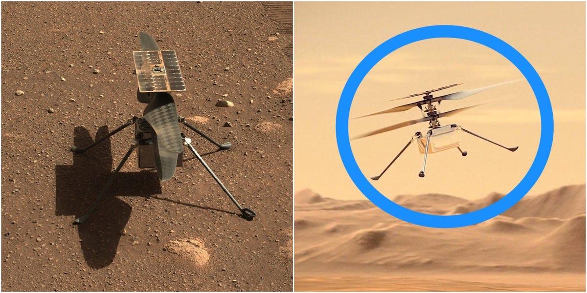 NASA odkłada lot helikoptera marsjańskiego po nagłym zakończeniu testu rotacji