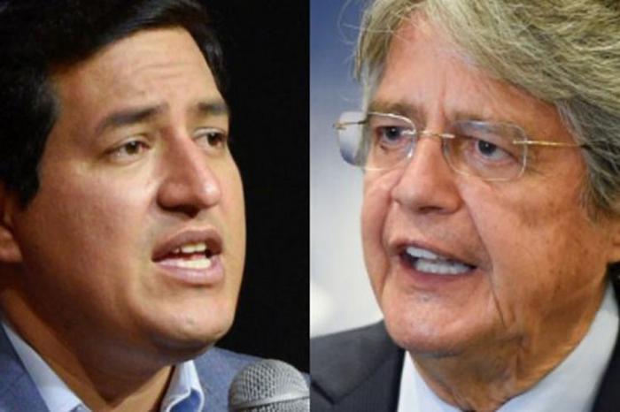 Andrés Arauz y Guillermo Lasso, candidatos presidenciales en Ecuador