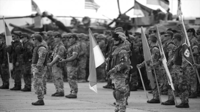 Movilización de tropas de la otan en la frontera de Rusia con Ucrania. Foto: Hispantv