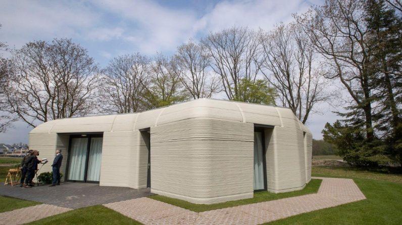 Domy wykonane na drukarkach 3D to domy przyszłości w Holandii