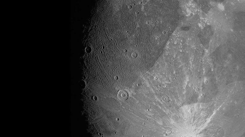 Ganymede JunoCam Imager June 2021
