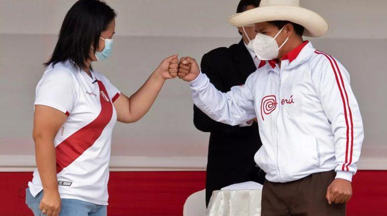 """Wybory prezydenckie """"twarzą w twarz"""" między Castillo i Fujimori"""