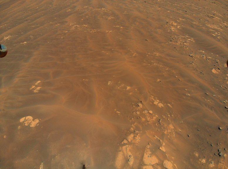 Wydmy i skały na Marsie