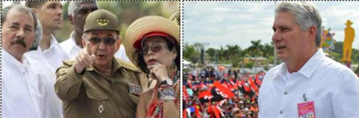 Radio Hawana Kuba |  Kuba: Raul Castro i Diaz-Canel upamiętniają rewolucję sandinistów (+ zdjęcie)