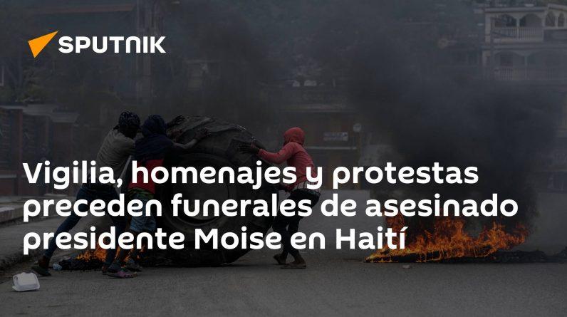 Czuwanie, hołd i protesty poprzedzają pogrzeb prezydenta Moise, który został zamordowany na Haiti