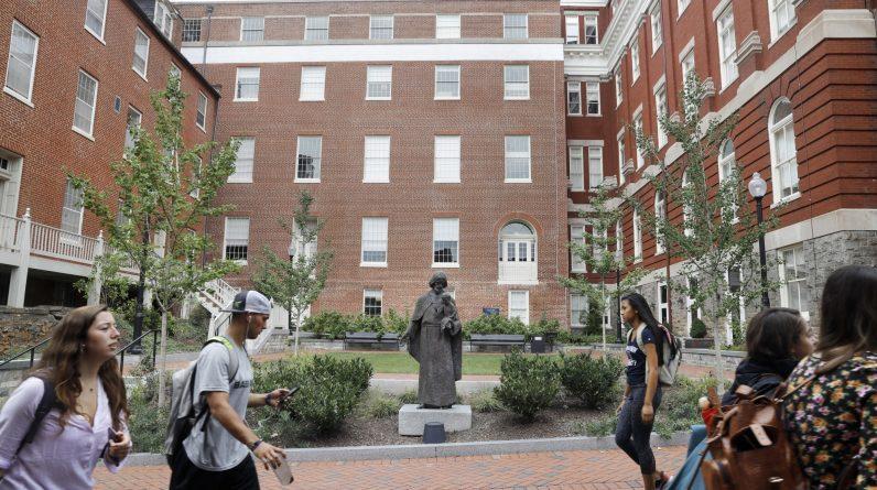 Georgetown twierdzi, że dwie próbki wykrywają norowirusa w społeczności kampusu, a prawie 100 wykazuje objawy