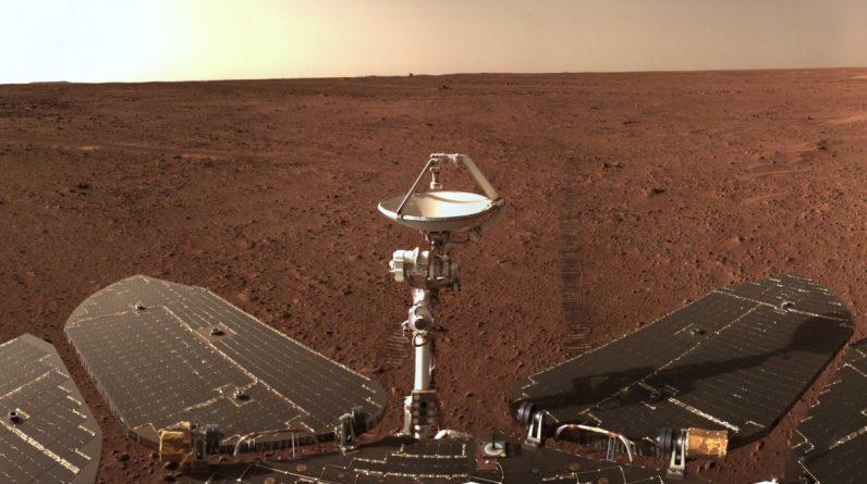 Łazik marsjański Zhurong przywraca panoramę sprzed zaciemnienia planety