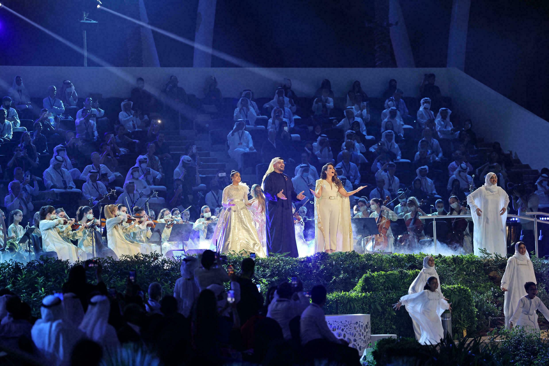 Prezentowane podczas otwarcia Expo 2020 w Dubaju 30 września 2021 r.