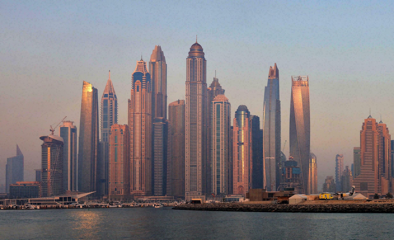 Zdjęcie wieżowców w Dubaju wykonane 31 maja 2021 r.