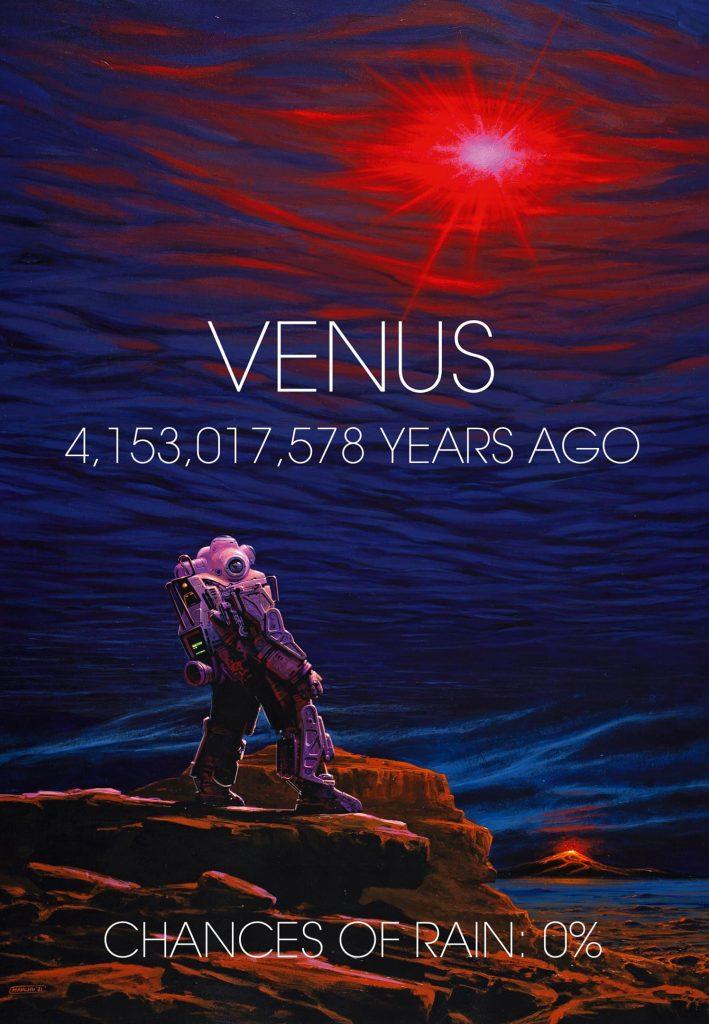 Wczesna powierzchnia i atmosfera Wenus
