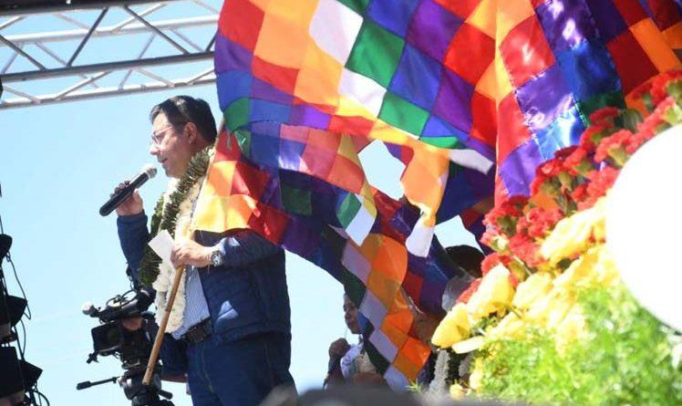 Rząd prowadzi whipalazo w Boliwii w Dniu Dekolonizacji - Prensa Latina